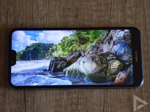 Nokia 7.1 scherm