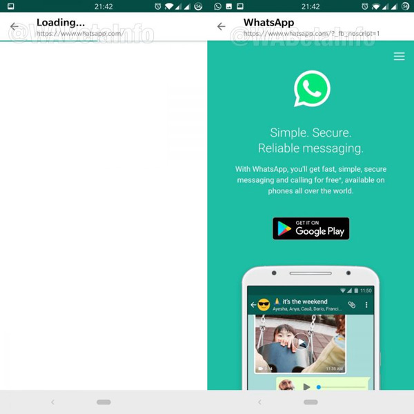 WhatsApp Interne browser