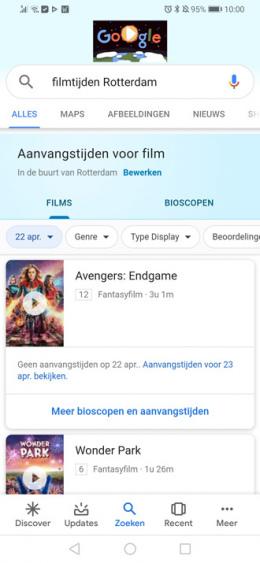 Google Discover film