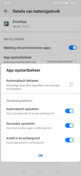 Huawei P30 meldingen notificaties