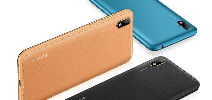 Huawei Y5 (2019) met Android Pie en leren achterkant voor 129 euro te koop