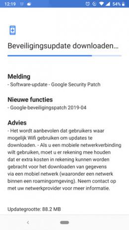 Nokia 6.1 beveiligingsupdate april 2019