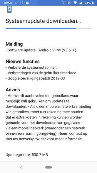 Nokia 6.1 beveiligingsupdate maart 2019