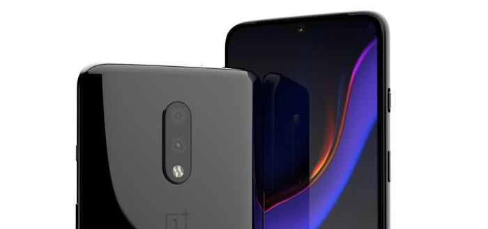 Nieuwe OnePlus 7-renders tonen geen pop-up camera maar druppel-notch