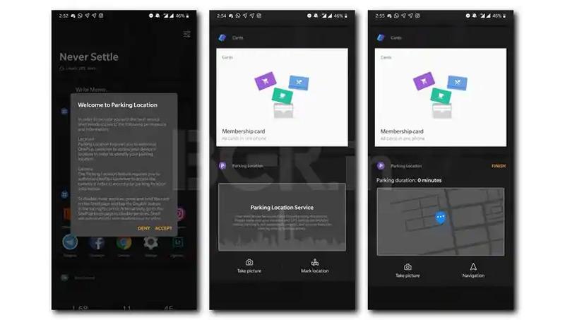 OnePlus Launcher Parkeerlocatie