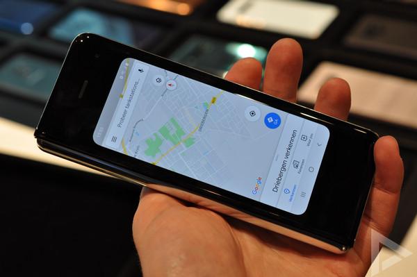 Samsung Galaxy Fold scherm voorkant
