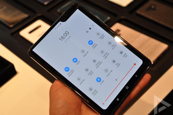 Samsung Galaxy Fold notificaties