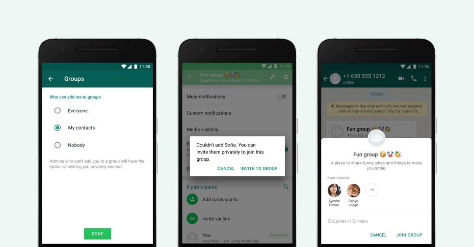 WhatsApp groepsuitnodiging