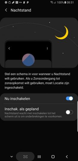Galaxy Note 9 nachtstand