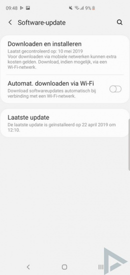 Galaxy S10 software-update
