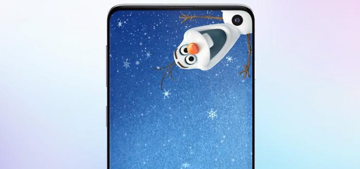 Samsung brengt Disney- en Pixar-wallpapers met camera-gat uit voor Galaxy S10
