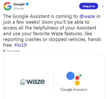 Google Assistent Waze