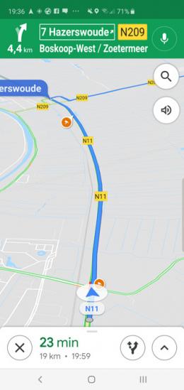 Google Maps snelheidscamera