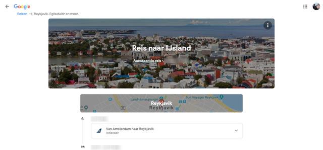 Google Trips web