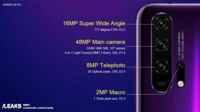 Honor 20 Pro macro-camera