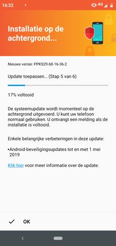 Motorola One beveiligingsupdate mei 2019