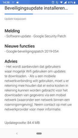 Nokia 6.1 7 Plus beveiligingsupdate mei 2019