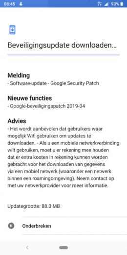 Nokia 7 Plus beveiligingsupdate april 2019