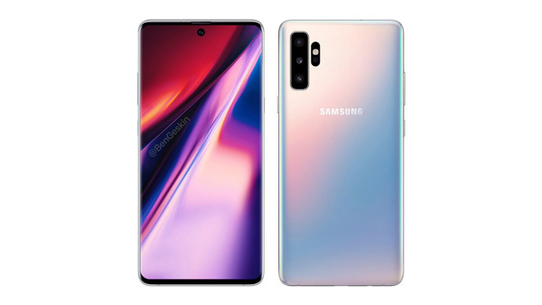 Samsung Galaxy Note 10 render