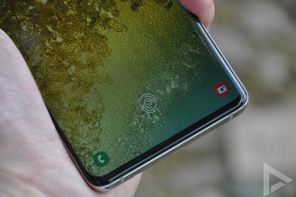 Samsung Galaxy S10+ vingerafdrukscanner