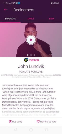 Songfestival app