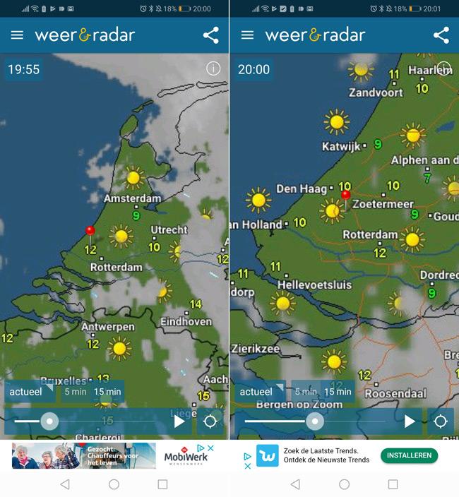 Weer en Radar weerkaart