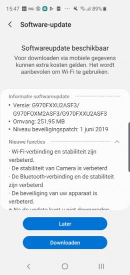 Galaxy S10 juni-update
