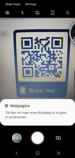 Galaxy S10 QR-code scanner