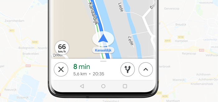 Google Maps snelheid header