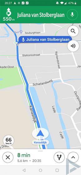 Google Maps Snelheidsmeter