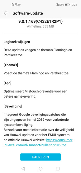 Honor View 20 mei-patch
