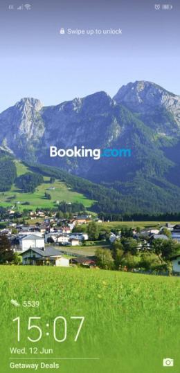 Huawei lockscreen Booking