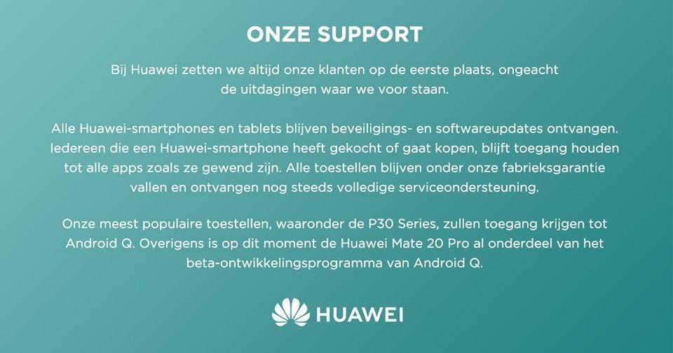Huawei statement nederland