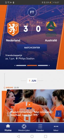 KNVB Oranje app