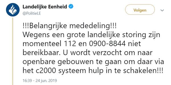 e64baf61caa94c De politie roept mensen op om in het geval van een noodgeval naar een  openbaar gebouw te gaan om daar via het C2000-systeem hulp in te schakelen.