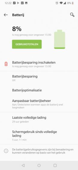 OnePlus 7 accu