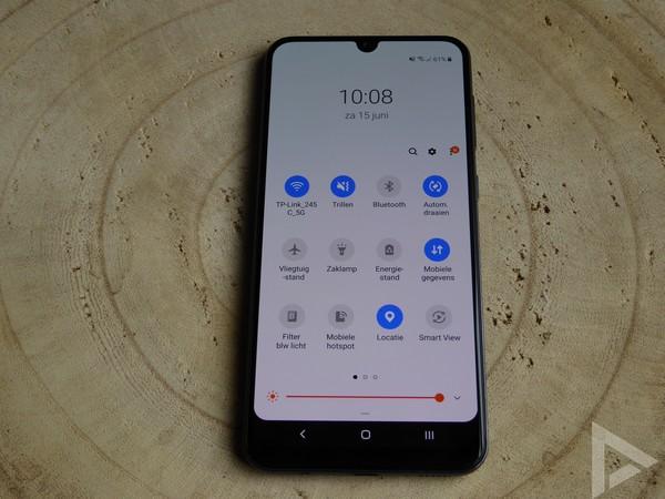 Samsung Galaxy A50 snelle instellingen