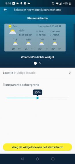 WeatherPro 5.0.5 widget