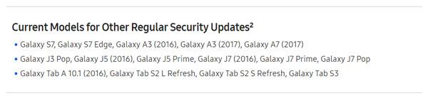 updates Galaxy S7