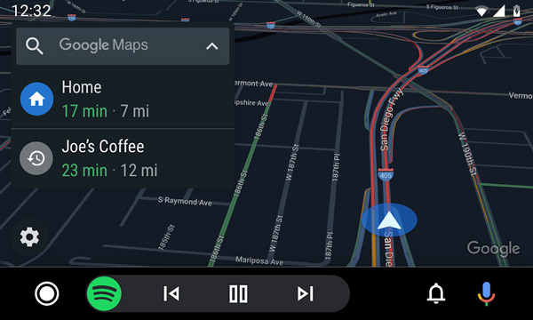 Android Auto navigatie