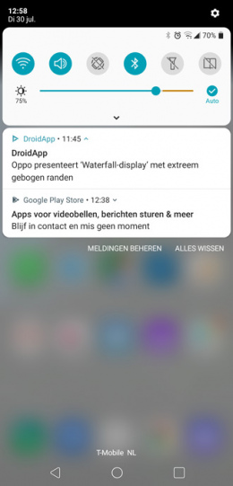 Google Play Store aanbeveling notificatie