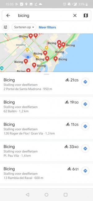 Google Maps gedeelde fietsen