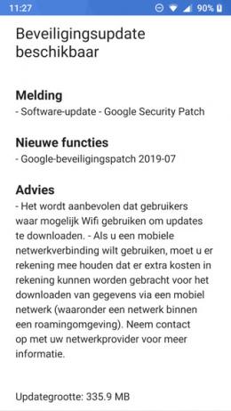 Nokia 6 beveiligingsupdate juli 2019