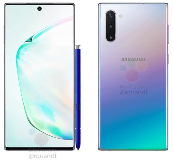 Samsung Galaxy Note 10 persfoto