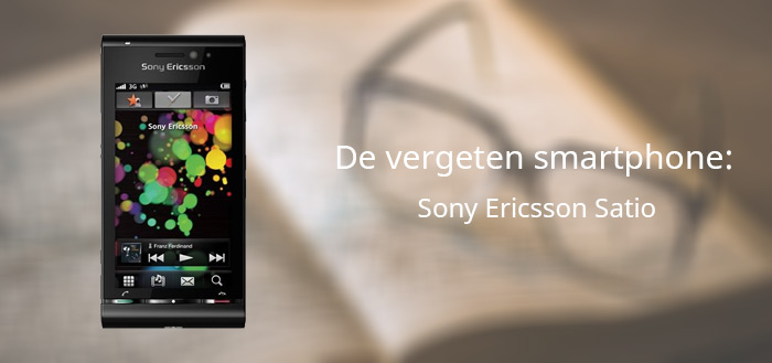 Sony Ericsson Satio vergeten header