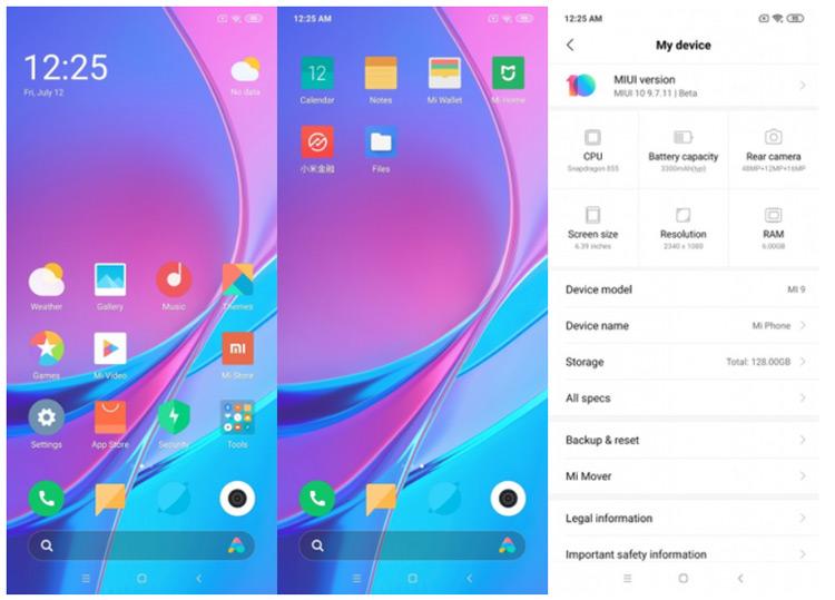 Xiaomi Mi 9 Android Q