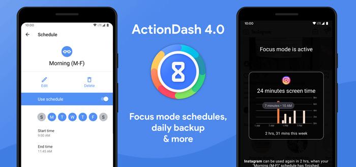 ActionDash 4.0 uitgebreid met inplannen Focus Mode en meer opties