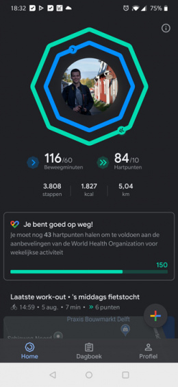 Google Fit donker thema