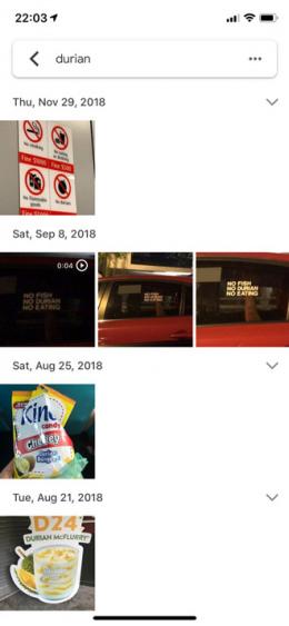 Google Foto's tekstherkenning