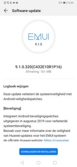 Huawei Mate 20 Pro augustus-update